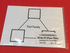 Fact Family Bonds - Laminated Dry Erase Mats