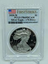2020-W $1 V75 Privy Proof Silver Eagle PCGS PR69 First Strike OGP COA