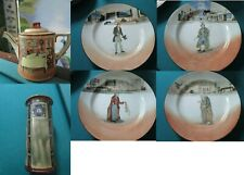 Royal Doulton Dickens Ware Collector Plates - Sir Roger Coverlay -Coffee Pot Pic