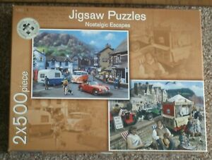 JIGSAWS by MARKS/SPENCER  ** NOSTALGIC ESCAPES - 2 x 500 PIECE JIGSAWs ** BOXED