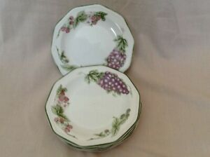 """5 X CHURCHILL VICTORIAN ORCHARD 8"""" SALAD PLATES GOOD USED CONDITION"""