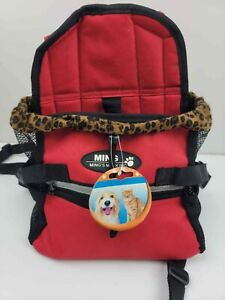 Pet Carrier Soft Sided small dogs Cat / Dog Comfort red Travel Bag