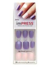 Kiss imPRESS Press On False/Fake Nails Gel Power Up 69272 Purple
