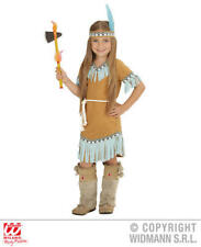 Girls Kids Childs Native American Beige Fancy Dress Costume Outfit 8-10 Yrs