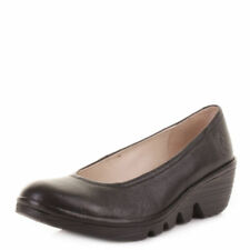 FLY London Court 100% Leather Heels for Women