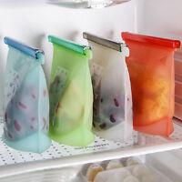 Reusable Vacuum Food Sealer Silicone Storage Fresh Bag Container Kitchen Fridge