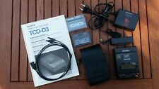 Sony Digital Tape-corder TCD - D3/ DAT Walkman, defekt - mit Zubehör