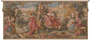 Le Dejeuner Champetre With Border French Garden Party Woven Wall Tapestry NEW