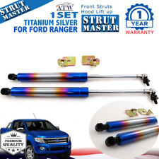 Titanium Front Shock Hood Bonnet Struts For 12-14 Ford Ranger T6 Raptor