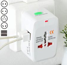 Universal Travel Adapter Wall Charger AU UK US EU AC Power Plug Converter 2 USB