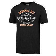 Original Six  NHL Eishockey 47 Brand T-Shirt schwarz   Größe Large