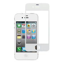 Custodia Cover Pelle Per Iphone 4 4S - Con Fessure Bianco