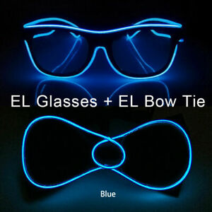 Halloween Hot sales EL Wire Glasses Glow Party Supplies LED Light up Decoration