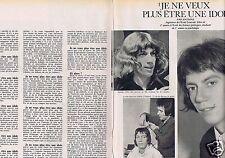Coupure de presse Clipping 1967 Antoine (2 pages) je ne veux plus etre une idole