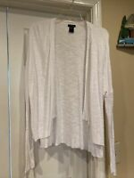 Womens New Directions Cream (off white) Cardigan sweater Jacket