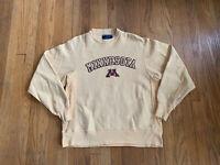 Vintage Champion Reverse Weave Minnesota Golden Gophers Embroidered Mens M Gold