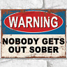 20cm x 12cm Laminated Card Work//Home//Drink Related Funny Signs