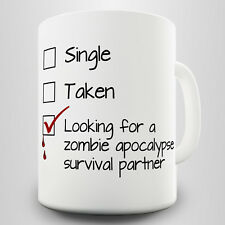 Apocalypse Survival Partner Novelty Gift Mug - Play on the current zombie trend