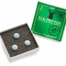 NEW! Elk Master PRO Pool Snooker Cue Tips - 10mm MEDIUM
