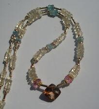 CES cadena berilo, heliodor, verde azulado, Pink topacio, imperial topacio, goldtopas