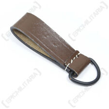 Brown Leather D-Ring Belt Loop - WW2 German Reproduction Field Equipment New