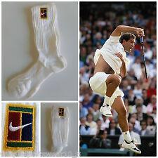Vtg 90s NIKE SUPREME COURT SAMPRAS Tennis Crew Socks 3 PAIRS Retro OG Federer DS