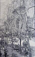 LEPERE AUGUSTE (1849-1918): Gravure sur bois originale   boulevard saint denis