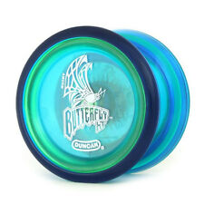 Duncan Butterfly XT Clear Blue Yo Yo Original PLUS 3 FREE NEON STRINGS