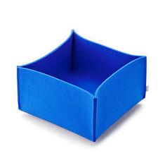 Filz Korb Aufbewahrung FELT Korb - 28 x 28 x 17 cm - Farbe royal blau