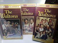 THE WALTONS VHS LOT OF 3 FAMILY TV CLASSICS NEW