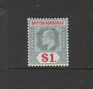 British Honduras 1904/7 EDV11 Defs $1 Fresh MM SG 91