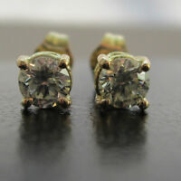Brand New 1/3ct Colour Diamond 9ct Yellow Gold Stud Earrings £199 Freepost
