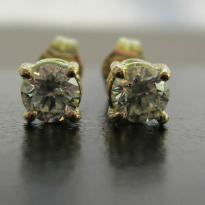 New 1/3ct Diamond 18ct Yellow Gold Stud Earrings £380 Freepost or Best Offer