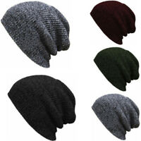 Men Women Knit Baggy Beanie Winter Hat Ski Slouchy Chic Knitted Cap Skull New