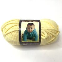 1 Skein of Babys First Lion Brand Yarn Color HONEY BEE Bulky Cotton Acrylic NEW