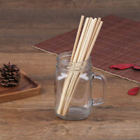 5Pcs Bamboo Drinking Straws Environmentally Friendly Household Utensils Stra d~
