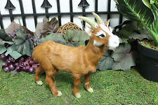 Brown Mountain Goat Realistic Taxidermy Replica Figurine Furry Animal