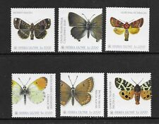 SIERRA LEONE Butterflies of the World issue of 6  MINT NH