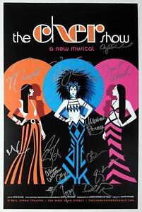 CHER SHOW Cast Stephanie J. Block, Jarrod Spector, Emily Skinner Signed Poster