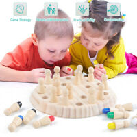 Wooden Memory Match Stick Chess Game Children Kids  Educational Toy Gift. !
