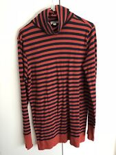"NWHT$89 ""JCrew"" Red Blue Cotton Stripes Long Sleeve Shirt /Top Size XS"