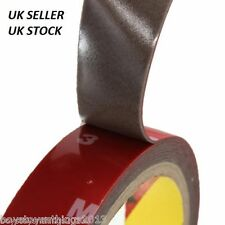 3M x 6MM AUTO ACRYLIC FOAM DOUBLE SIDED ATTACHMENT ADHESIVE TAPE. UK SELLER