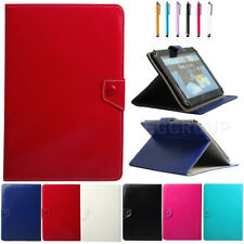 """AU For 10"""" 10.1"""" Tablets PC Universal Folio Leather Stand Case Cover+Pen Gift"""