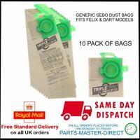 FITS SEBO DART AND FELIX MODELS VACUUM CLEANER DUST PAPER BAGS 7029ER 10 PACK