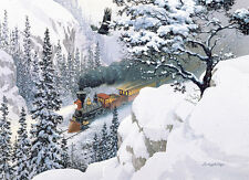 Jigsaw Puzzle Train The Passage Winterscape 1000 pieces NEW Made in USA