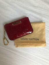 Authentic Louis Vuitton Key Pouch in Vernis (Pomme d'Amour)