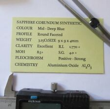 SAPPHIRE CORUNDUM TOP GRADE SYNTHETIC 3.25Ct  SR9