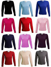 Women's Cashmere Long Sleeve Crew Neck Jumpers & Cardigans