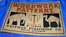 1933 VTG RARE WHITMANS CHILDREN'S CRAFT BOOK WOODWORK PATTERNS, MAKE TOYS