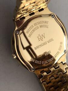 Mint  Raymond Weil Geneve Fidelio 4802 18k Gold GP Men's Watch
